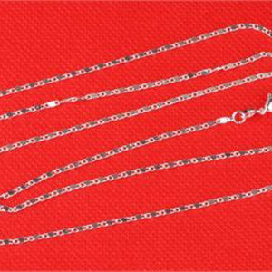 "Jewelry - 16"" Italian Sterling Silver Flat Wave Link Chain"